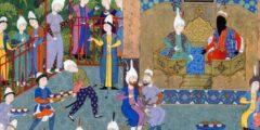 تطورت رسوم المنمنمات الإسلامية لتشمل توضیح مواقف من القصص الأدبية.